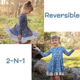 Evie's Closet         Fall Floral Reversible Knit Dress