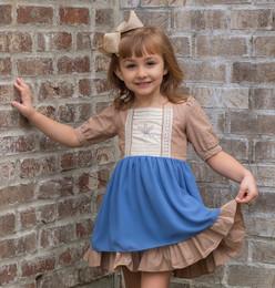 Evie's Closet         Winter Wheat Chiffon Dress