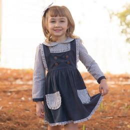 Evie's Closet         Suede Navy Stripe Dress