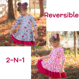 Evie's Closet         Christmas / Valentines Reversible Knit Dress