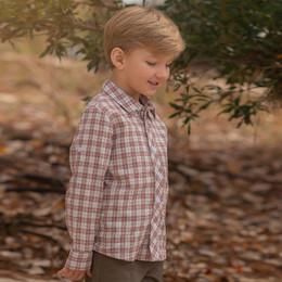 Evie's Closet         Maroon Mountains Boy's Shirt