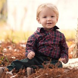 Evie's Closet         Holiday Plaid Boy's Shirt