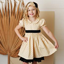 Serendipity Clothing   Paris Chic 2pc Dottie Petal Dress & Headband **PRE-ORDER**