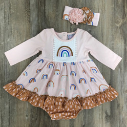 Serendipity Clothing   Over The Rainbow 2pc Rainbow Embroidered Bubble Dress & Headband **PRE-ORDER**