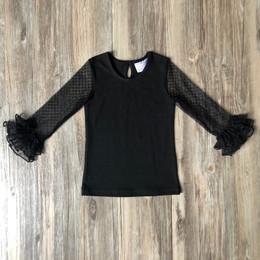Serendipity Clothing   Mesh Sleeve Top - Black **PRE-ORDER**