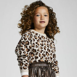 Mayoral      Leopard Print Sweater - Brown