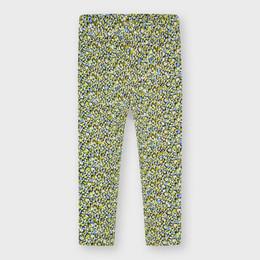 Mayoral      Floral Dot Print Leggings - Green/Blue