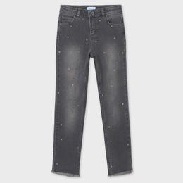 Mayoral      Denim Star Studded Jeans - Medium Gray