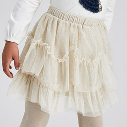 Mayoral      Tulle Glitter Skirt - Almond