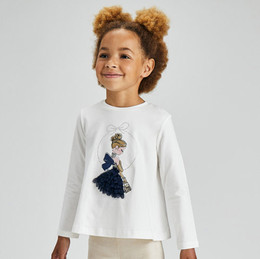 Mayoral      Belle Of The Ball L/S Tee - Natural
