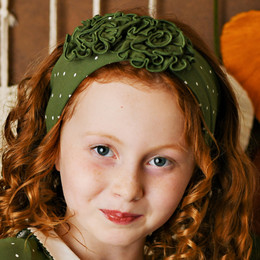 Swoon Baby by Serendipity    Vintage Olive Fluer Headband