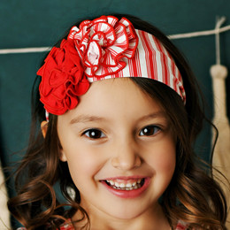 Swoon Baby by Serendipity    Winter Floral Headband - Stripe
