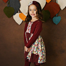 Swoon Baby by Serendipity    Crimson Rose Pocket Tier Dress **PRE-ORDER**