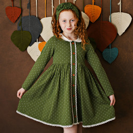 Swoon Baby by Serendipity    Vintage Olive Fluer Prim & Proper Dottie Dress