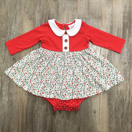 Swoon Baby by Serendipity    Winter Floral Proper Bubble Dress **PRE-ORDER**