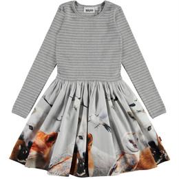 Molo         Casie Organic Knit & Woven Dress - Friendly