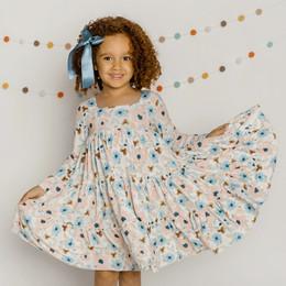 Be Girl Clothing                 Playtime Favorites Maple & Whimsy Garden Twirler Dress - Autumn Botanical