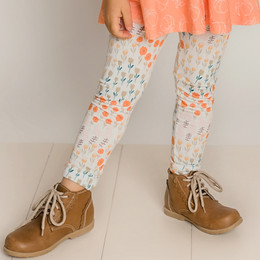 Be Girl Clothing                 Playtime Favorites Maple & Whimsy Classic Leggings - Whimsy Floral