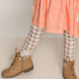Be Girl Clothing                 Playtime Favorites Maple & Whimsy Picnic Contrast Leggings - Maple Check