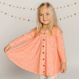 Be Girl Clothing                 Playtime Favorites Maple & Whimsy Trapeze Tunic - Pumpkin Pie