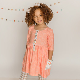 Be Girl Clothing                 Playtime Favorites Maple & Whimsy Picnic Tunic Dress - Pumpkin Pie