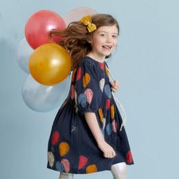 Pink Chicken       Brooke Dress - Dress Blues Balloons