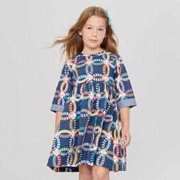 Pink Chicken       Olivia Dress - Dress Blues Multi Quilt