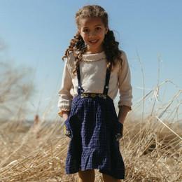 Lali Kids  Transcadental Winter Cypress Skirt - Midnight Blue