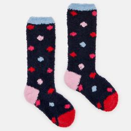 Joules Fluffy Socks - Multi Spots