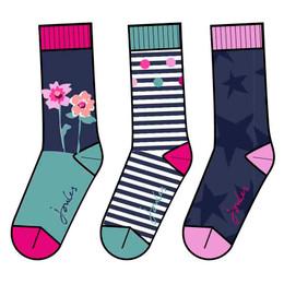 Joules Brilliant Bamboo Socks - 3 pairs! - Multi **PRE-ORDER**