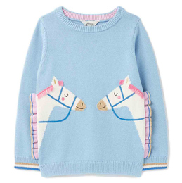 Joules Geegee Crewneck Sweater - Horse Friends