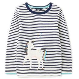 Joules Miranda Crewneck Sweater - Stripe Unicorn