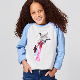 Joules Lorna Knit Tee - Reversible Sequin Shooting Star