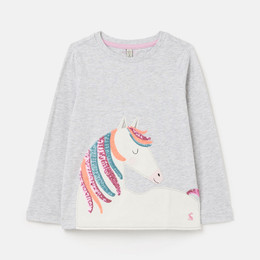 Joules Ava Knit Tee - Sequin Horse Mane **PRE-ORDER**