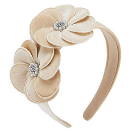 Mayoral       Floral Velvet Headband - Taupe
