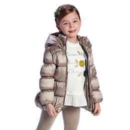 Mayoral       Puffer Jacket w/Hood - Taupe