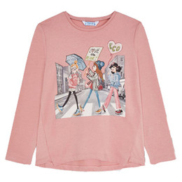 Mayoral       Love The Planet Solid L/S Tee - Rose