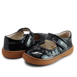 Livie & Luca       Classic Ruche Shoes - Black Patent (Winter 2021)