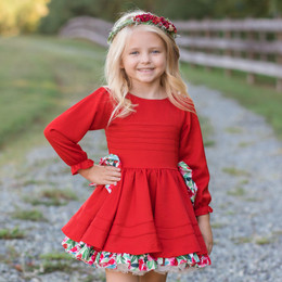Be Girl Clothing                     Holiday Vernon Dress **PRE-ORDER**