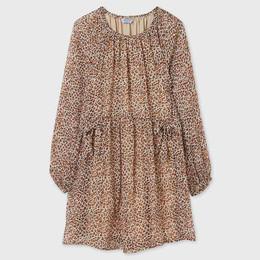 Mayoral        Leopard Chiffon Dress - Multi