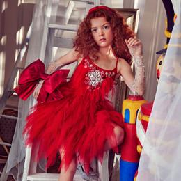 Tutu Du Monde      Holiday Little Drummer Girl Abigail Tutu Dress - Red Velvet
