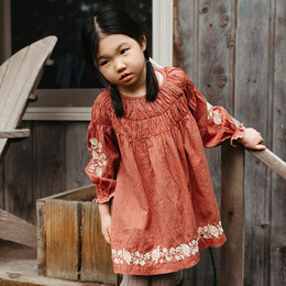 Lali Kids  Transcadental Winter Tulip Dress - Amber Stripes