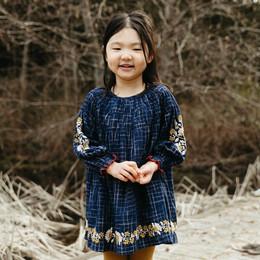 Lali Kids  Transcadental Winter Tulip Dress - Midnight Blue