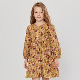 Pink Chicken        Amma Dress - Inca Gold Vine Floral