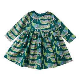 Pink Chicken        Songbird Dress - Evergreen Peacocks