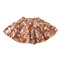 Pink Chicken        Allie Skirt - Antique White Rainbows