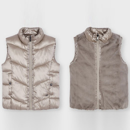 Mayoral         Reversible Puffer Vest - Taupe