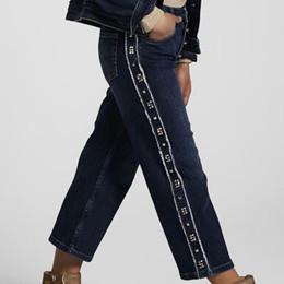 Mayoral         Cropped Side Studded Denim Jeans - Dark Wash