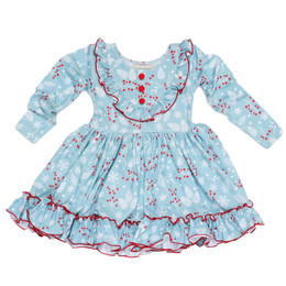 Be Girl Clothing                      Playtime Favorites Boughs Of Holly Little Miss Tunic Dress - Boughs Of Holly **PRE-ORDER**