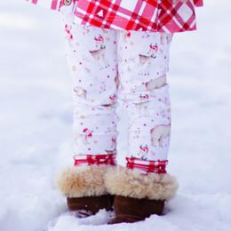 Be Girl Clothing                      Playtime Favorites Boughs Of Holly Contrast Leggings - Santa Baby **PRE-ORDER**
